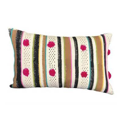 Black & Brown Stripes Cushion Cover
