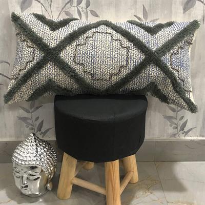 bohemian hand block printed pillow cover