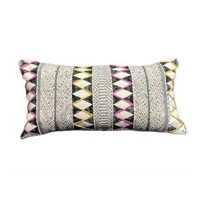 Black & Grey Zigzag Stripes Cushion Cover