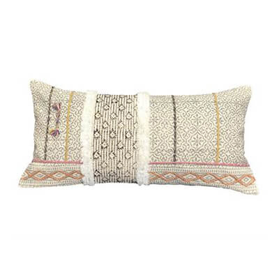 Cushion Cover with Hand Embroidery