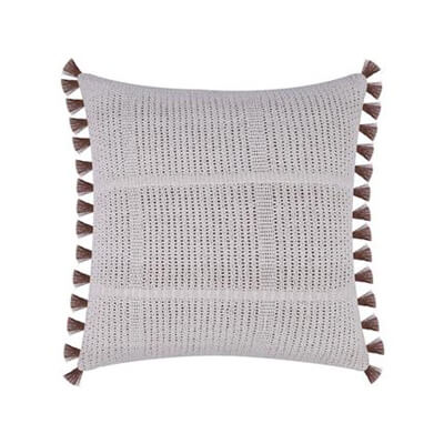 Hand-knotted Cushion Cover with Tassels