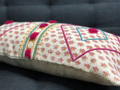 Cushion Cover with Pom Pom