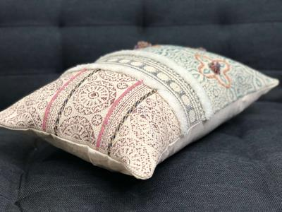 Handwoven Block Printed Cushion Cover