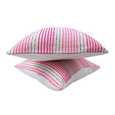 Multicolored Stripes Cushion Cover