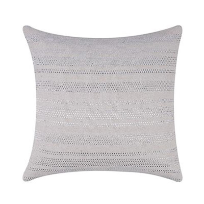 Silver Stripes Handwoven Cushion Cover