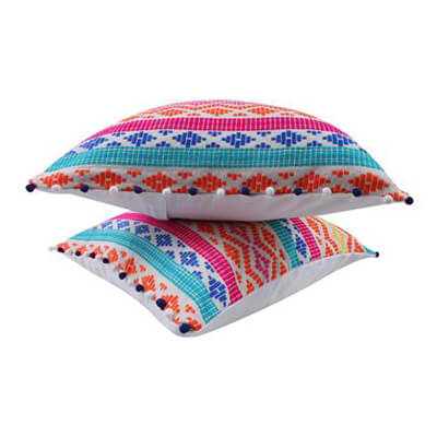 Multi-Color Handwoven Cushion Cover
