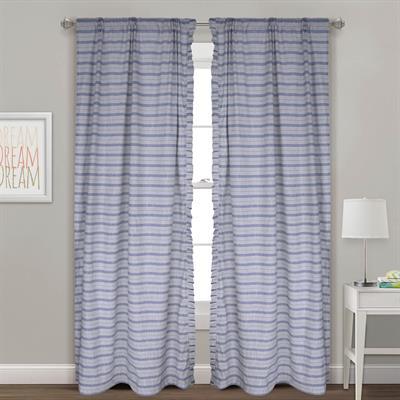 decorative striped ruffled cotton curtains 1