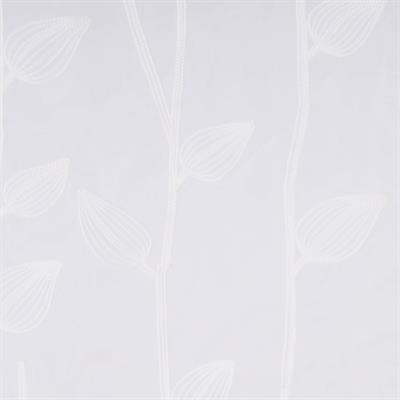 farmhouse style leaves embroidery sheer curtain 1