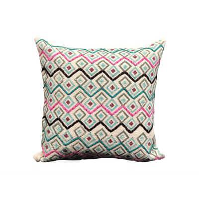 Geometrical Handwoven Cushion Cover