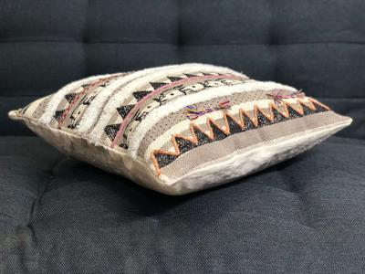 Hand Block Printed Tufted Cushion Cover