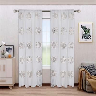 mirror work curtains