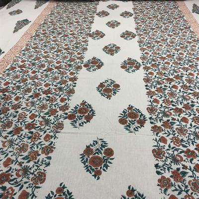 Butti and Floral Jaal handmade bedsheet