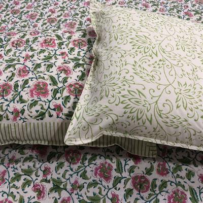 handmade floral jaal bedsheet