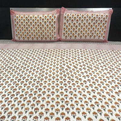 Butti Pattern Handblock Printed Bedsheet