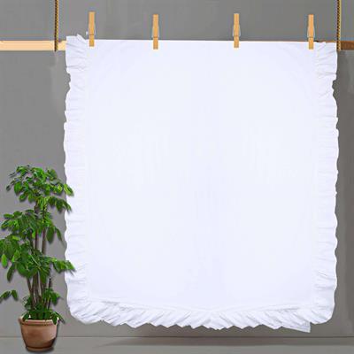 white cotton boho ruffled  Duvet Cover